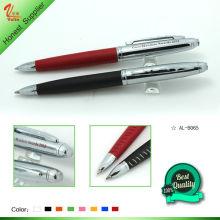 Novo desenho metal caneta com couro
