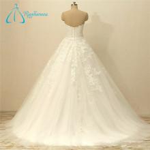 Lace Appliques Tulle Bow Sash Zipper Wedding Dress Online Sale