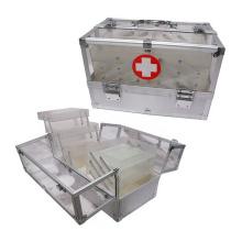 Trousse d'urgence en acrylique avec 6 plateaux