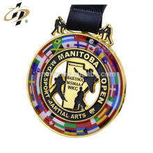 Custom zinc alloy gold plate karate challenge competition metal medal