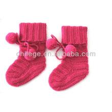 chaussettes tricotées en cachemire pur bébé de haute qualité