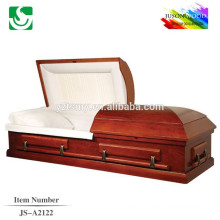 Vente chaude style américain standard en bois massif peint de cercueil