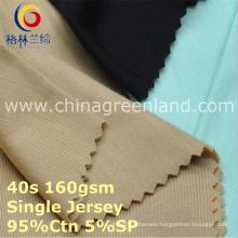 Cotton Spandex Single Jersey Knitting Fabric for Garment Textile (GLLML415)