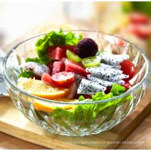 5pcs set glass bowls heat resistant large clear glass salad bowls crystal glass fruit bowls