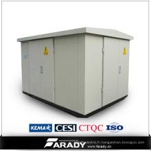 Sous-station de transformateur compact de 15kv / 22kv / 33kv
