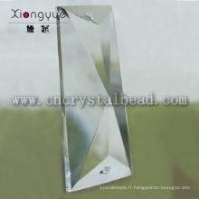 forme triangle irrégulier cristal de lustre pendentifs
