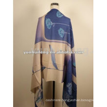 new design 100% cashmere solid printed scarf