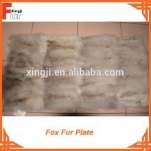 De Buena Calidad Fox Belly Plate Fox Fur Plate