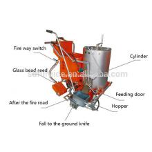 Máquina termoplástica portátil da marcação de estrada do Preheater dobro portátil