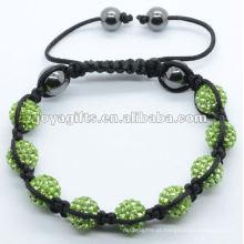 Pedra grânulos pulseira tecida, pulseira tecida