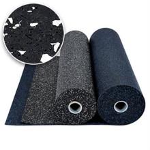 Black+EPDM Fitness Rubber Flooring Rolls Gym Interlocking Rubber mat