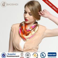 55x55cm pequeña bufanda del cuello bufanda de seda del satén para la azafata de la línea aérea