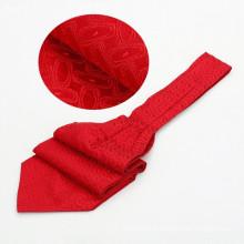 Laço tecido do gravata do Ascot Jacquard de seda do fabricante da gravata de China qualquer coisa