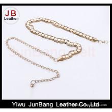 Metal Belt Gold-Tone com Faux Tortoise Links Chain Belt