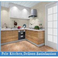 L Shape Classical Design Solid Wood Kitchen Cabinet