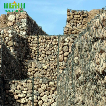 PVC Coated Gabin And Glass Rock Untuk Gabion