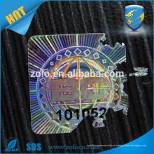 Diseño de alta seguridad holográfico material de papel frágil etiquetas de vino