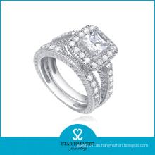 Modeschmuck Sterling Silber CZ Ring (SH-R0136)
