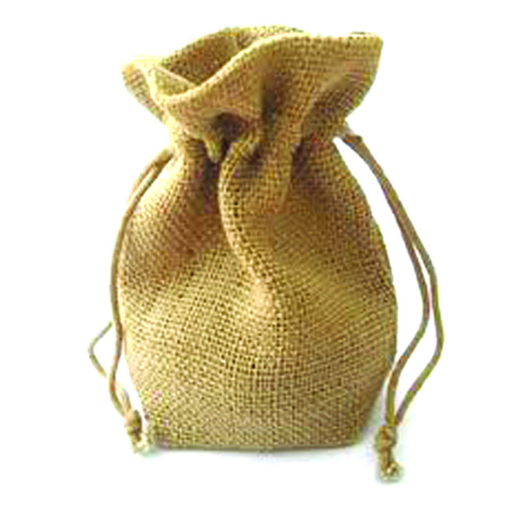 custom burlap bag