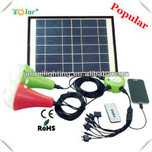 9W New CE solar home emergency lighting with 2 LED lamps