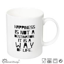 White Color with Words Printing Straight Coffee Mug