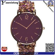 YXL-041 новый дизайн кварцевые часы продвижения логотипа очаровательной Vogue женские наручные часы моды