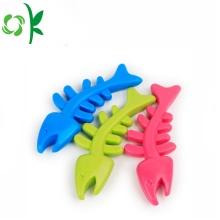 Safe Silicone Pet Chew Fish Bone Dog Toys