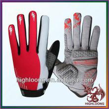 Weibliche Spandex Polyester Anti-Skid Road Radfahren Handschuhe mit Silikon Print
