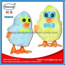 Wind up Single Wing Cartoon Glasses Plush Chicken Toy