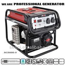 Portable single phase air-cooled gasoline generator set