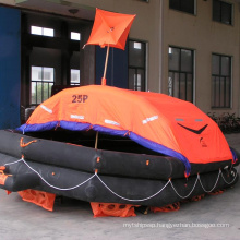 Solas 25 person self inflating  life raft with cheap price CCS/EC/GL/ZY