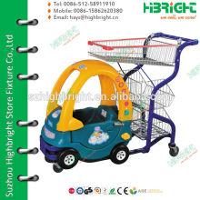 super market plastic baby shopping carts