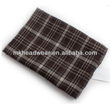 man long viscose check scarf