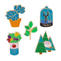 Lindo Lotus Potted Badge Collar Brooch Pins