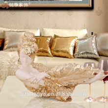 Sexy lady gunagzhou supplier resin fruit tray for living room and coffee table piece for sale