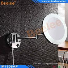 Espejo de pared ajustable de doble cara iluminado con LED (5X-7X) Espejo de pared ajustable con espejo de acrílico