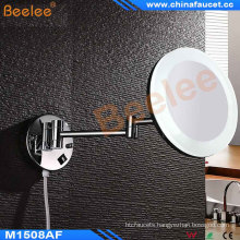 Double Side LED Lighted Magnifying (5X-7X) Adjustable Wall Mirror with Acrylic Mirror Frame