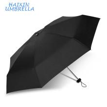 Logotipo personalizado Souvenir Gifts Business Promotion 5 veces Mini paraguas compacto Ultra Light para el mercado europeo