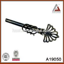 A19050 accesorios de la barra de la cortina, doble el poste de la cortina, finial de la barra de la cortina del metal,