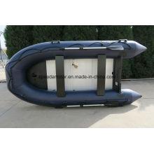 Canot pneumatique à plancher aluminium matériel grande vitesse PVC coque