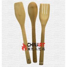 Naturaleza Set de utensilios de cocina de bambú (CB02)