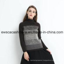 Rainbow Like Women Turtle Neck 100% Cashmere Sweater