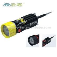 8 en 1 destornillador multi-función con luz brillante en la cabeza