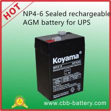 Np4-6 Bateria de AGM recarregável selada (6V4Ah) para UPS