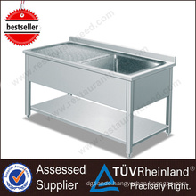 2017 China Supplier Kitchen Outdoor Stainless Steel Sink Table