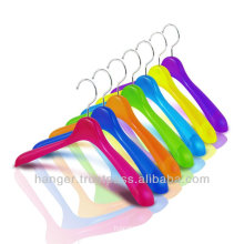 Rainbow-colored Durable Plastic Jacket Hangers for Bedroom Furniture