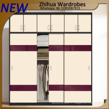 Zhihua High Glossy Customized Wardrobe Wooden Sliding Doors