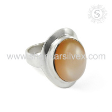 Rattling Moon Stone Silver Ring en gros 925 bijoux en argent sterling Indian Online Silver Jewelry