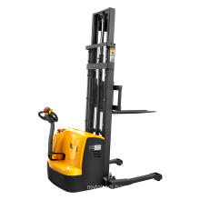 Xilin Walkie type electric pallet lift stacker forklift 1.5ton 3300lbs 5.6M full electric straddle stacker