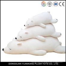 Peluche mini peluche súper suave felpa arrastrándose oso polar